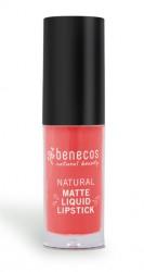Benecos Coral Kiss Liquid Lipstick mat