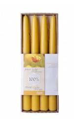 Dipam bijenwas dinerkaarsen 4 stuks