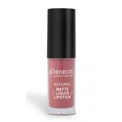 Benecos Rosewood Romance liquid lipstick