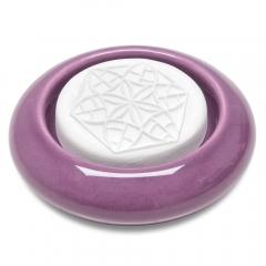 taoasis geursteen in stenen paarse houder