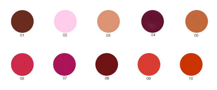 Lippenstift Provida kleuren